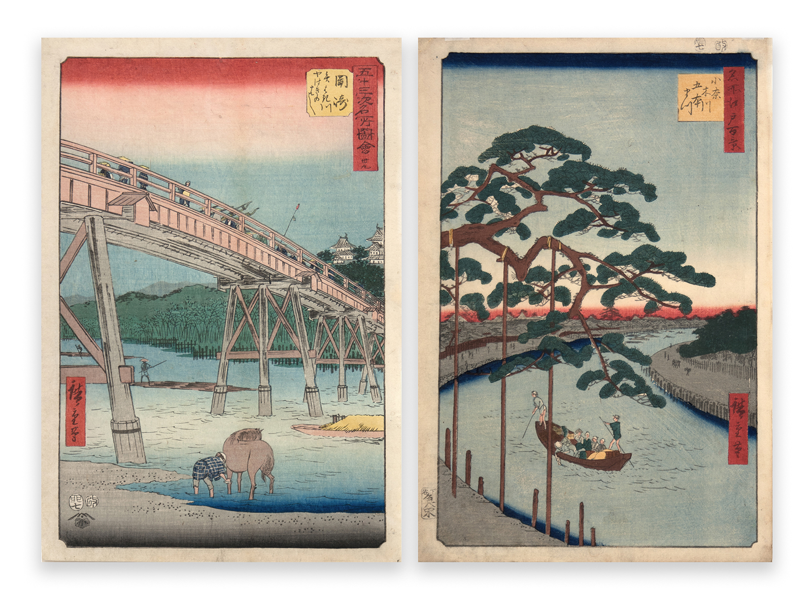 Japanese color woodcut